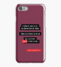 At war over you. iPhone Case/Skin