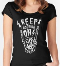 Keep Rocking On! Women's Fitted Scoop T-Shirt
