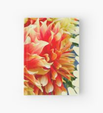 FEED YOUR SOUL DAHLIA INSPIRATIONAL QUOTE Hardcover Journal