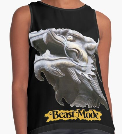 COOL BEAST MODE FUNNY QUOTE DRAGON FANTASY Contrast Tank