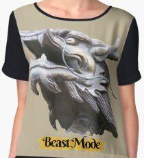 COOL BEAST MODE FUNNY QUOTE DRAGON FANTASY Women's Chiffon Top