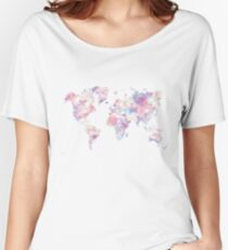 gradient map of the world Women's Relaxed Fit T-Shirt