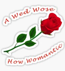 A Red Rose Sticker