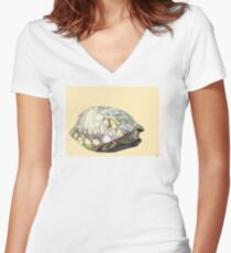 Box Turtle Women's Fitted V-Neck T-Shirt