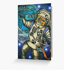 Space Cat Oddity Greeting Card