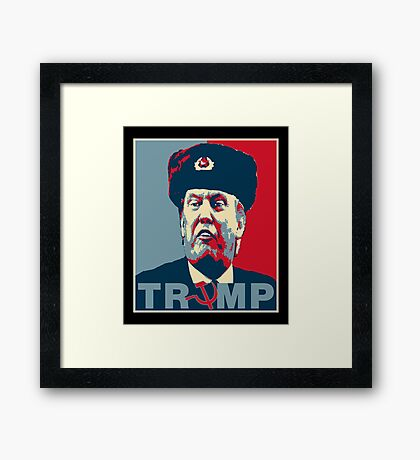 Trump Russia Poster Framed Print
