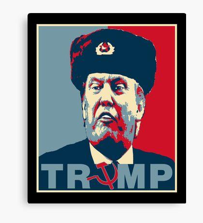 Trump Russia Poster Canvas Print