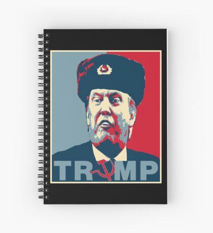 Trump Russia Poster Spiral Notebook