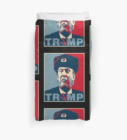 Trump Russia Poster Duvet Cover