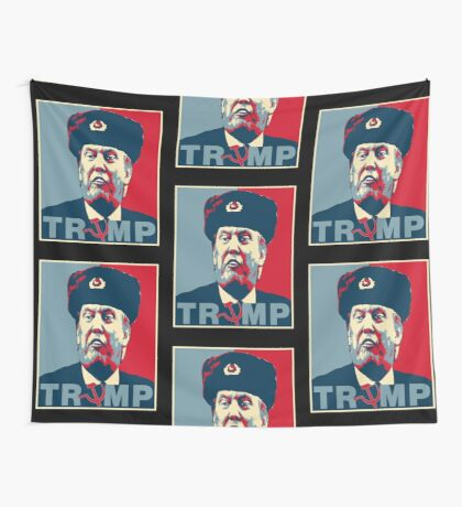 Trump Russia Poster Wall Tapestry