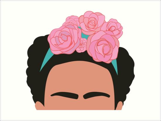 Láminas Artísticas «Silueta De Frida Kahlo» De Melcochrane