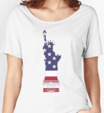 Lady Liberty in Red, White and Blue Women's Relaxed Fit T-Shirt