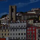 Houses Around  Lisbon Cathedral by wiggyofipswich