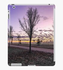 Country dirt road with purple sky iPad Case/Skin