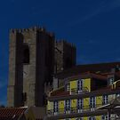 The Yellow House & Lisbon Cathedral by wiggyofipswich