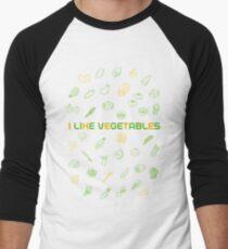 I LIKE VEGETABLES Men's Baseball ¾ T-Shirt
