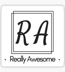 RA Really Awesome Sticker