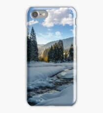 Frozen mountain river in spruce forest iPhone Case/Skin