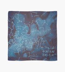Astronomer's Constellation Star Map Scarf