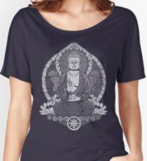 Gautama Buddha White Halftone Women's Relaxed Fit T-Shirt