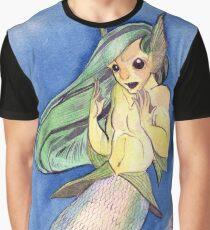 MerMay Angry Merfolk Mid Conversation Watercolor Graphic T-Shirt