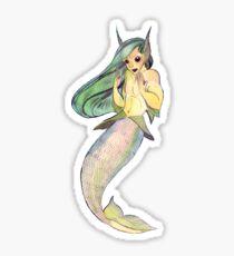 MerMay Angry Merfolk Mid Conversation Watercolor Sticker
