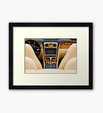 Classic Car Interior With Dashboard View Framed Print