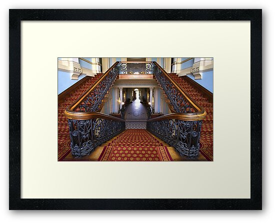 1423 The Staircase- Werribee Mansion by Hans Kawitzki