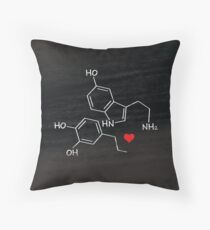 Geeky Love Chemistry. Serotonin + Dopamine Throw Pillow