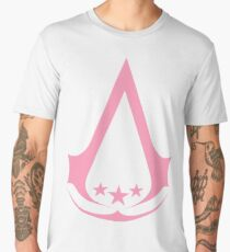 Assassins Creed 3 Logo - [PINK] Men's Premium T-Shirt