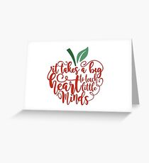 Teach Minds Greeting Card