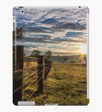 Fenceline leading to sunrise iPad Case/Skin