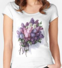 Lilac Bouquet Women's Fitted Scoop T-Shirt