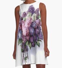 Lilac Bouquet A-Line Dress