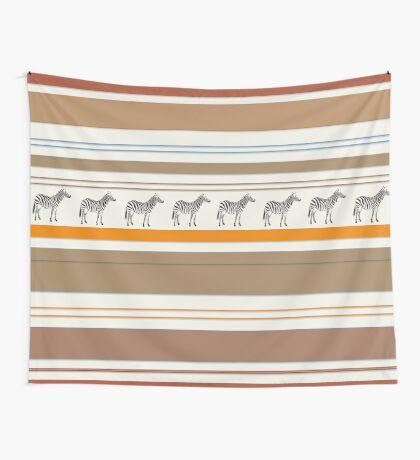 Lodge décor - Zebra safari light-coloured Mix & Match throw pillow Wall Tapestry