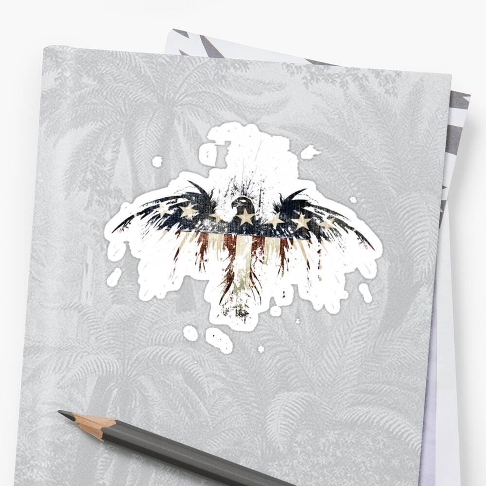 Eagles become vultures stickers by alex cherry redbubble for Alex cherry eagles become wall mural