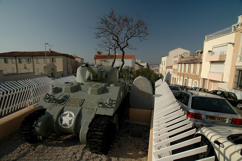 US Army Tank Liberation Memorial, Marseilles, France 2012 by muz2142
