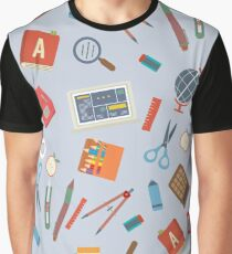 Floating Education Objects Graphic T-Shirt
