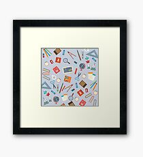 Floating Education Objects Framed Print