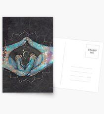Vishuddha - throat chakra mudra  Postcards