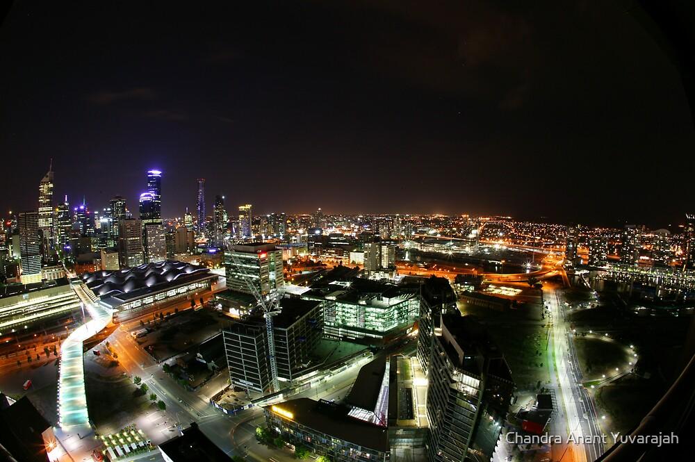 Melbourne when night falls by Chandra Anant Yuvarajah
