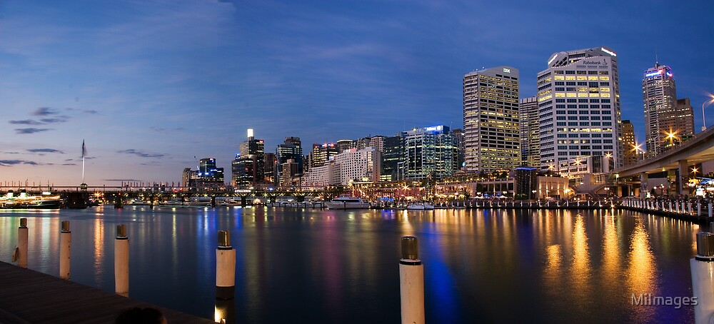 Panoramic View Of Darling Harbour Sydney Australia by MiImages