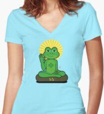 RedPill KEK  Women's Fitted V-Neck T-Shirt