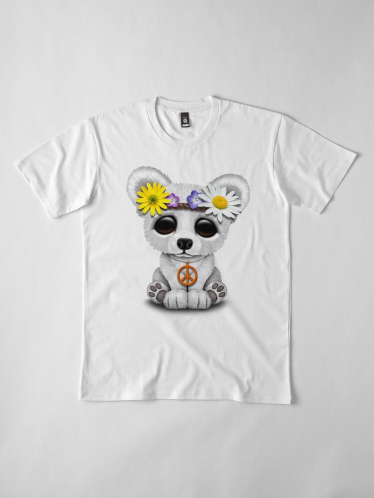 Alternative Ansicht von Cute Baby Eisbär Cub Hippie Premium T-Shirt