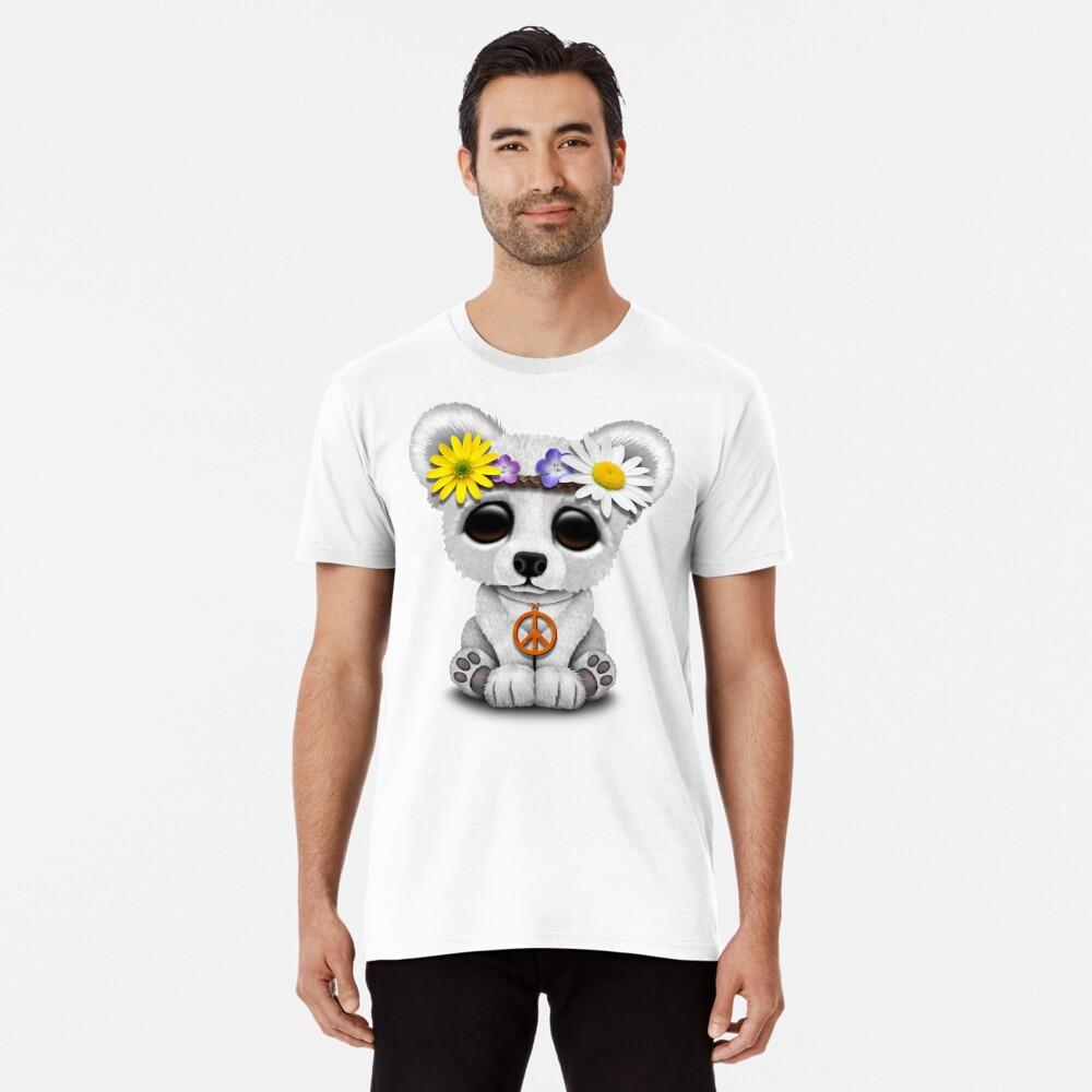 Cute Baby Eisbär Cub Hippie Premium T-Shirt