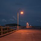 Nighttime on Coffs Harbour Jetty by Clare Colins