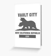 Fallout NCR (Vault City) Greeting Card