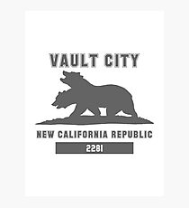 Fallout NCR (Vault City) Photographic Print