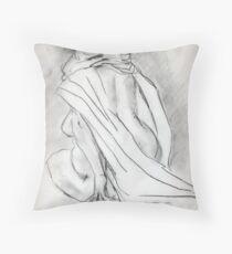 Model draped in heavy cloth 060 Throw Pillow