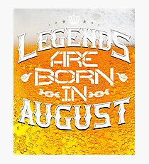 Queens Legends beer are born in august  Photographic Print